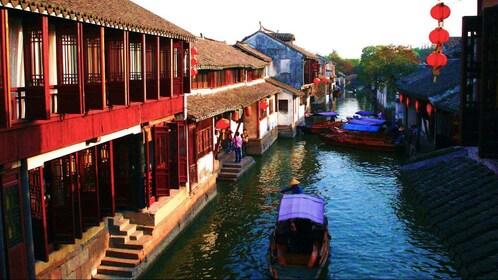 Overhead view of Zhouzhuang Water Village