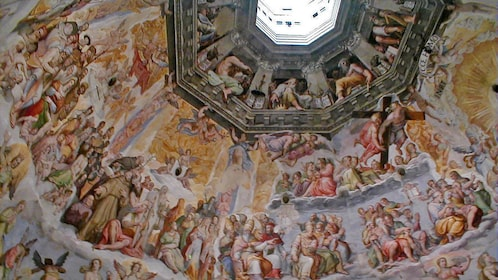 painted dome interior in Florence