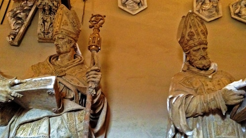 old religious sculptures in Florence