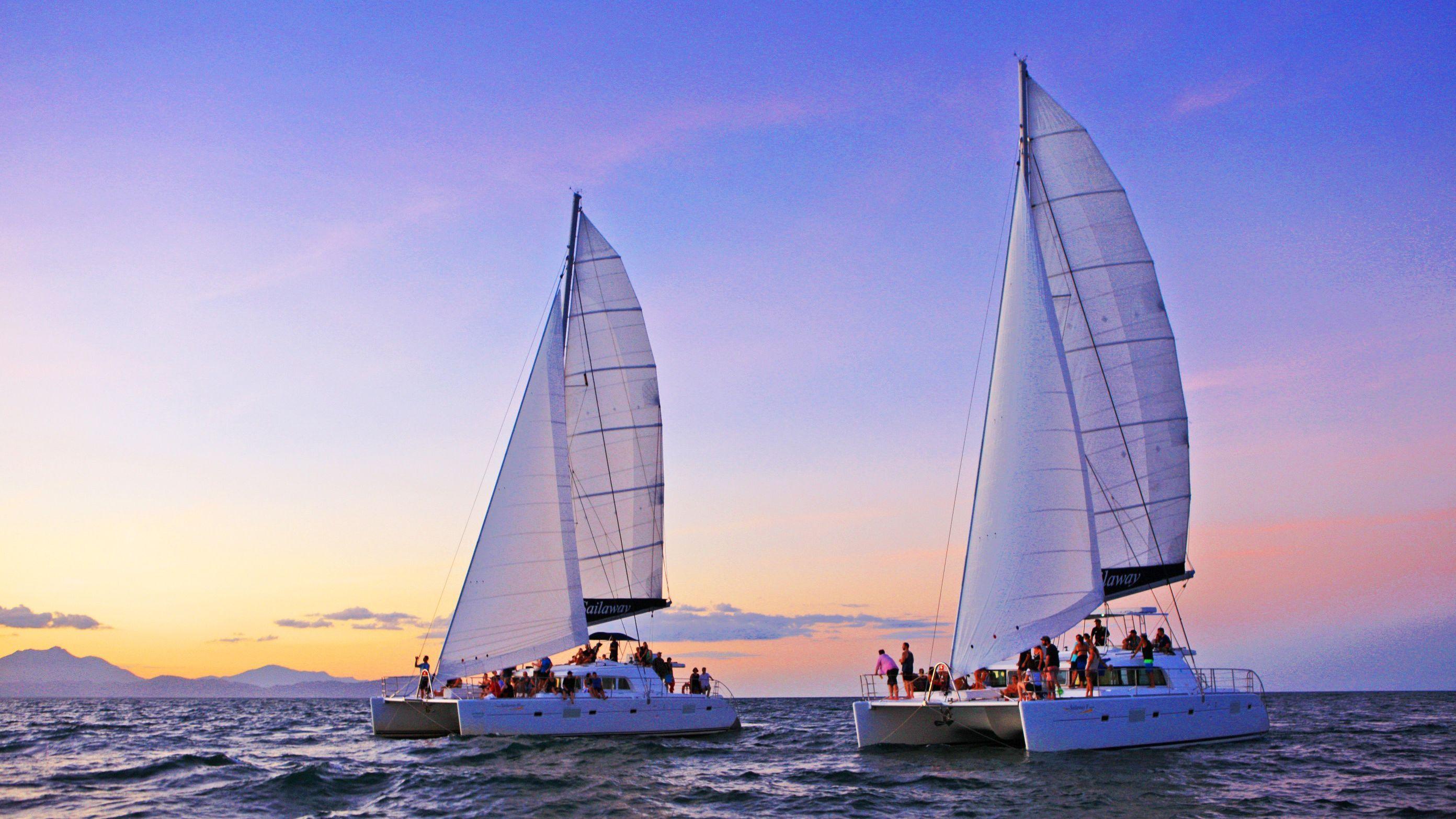 Sunset Coral Sea Cruise