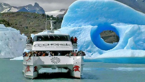 View of the glaciers seen on the Argentino Lake boat sail