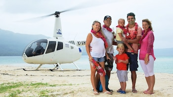 City Helicopter Flight & Resort Lunch by Vanuatu Helicopters