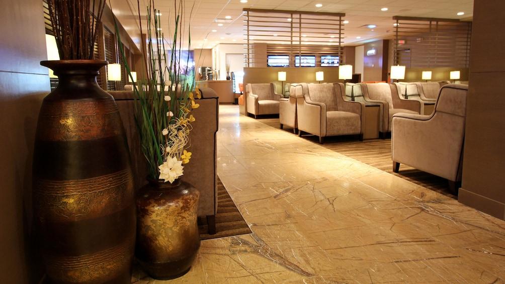 Show item 5 of 5. Stunning view of the Plaza Premium Lounge at Edmonton International Airport