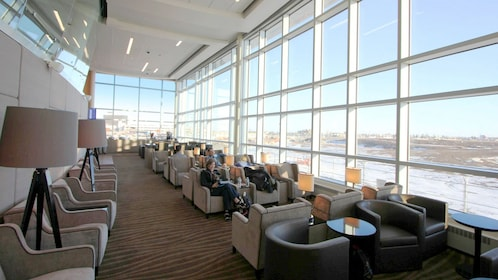 Gorgeous view inside the Plaza Premium Lounge at Edmonton International Airport
