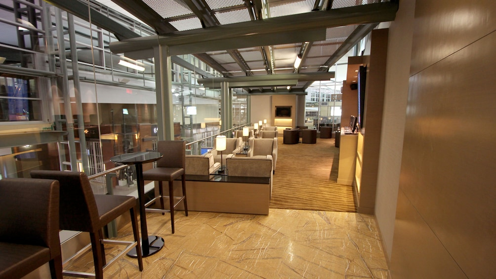 Show item 2 of 5. A glimpse of the Plaza Premium Lounge at Edmonton International Airport