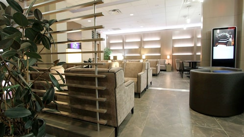Look inside the Plaza Premium Lounge at Vancouver International Airport