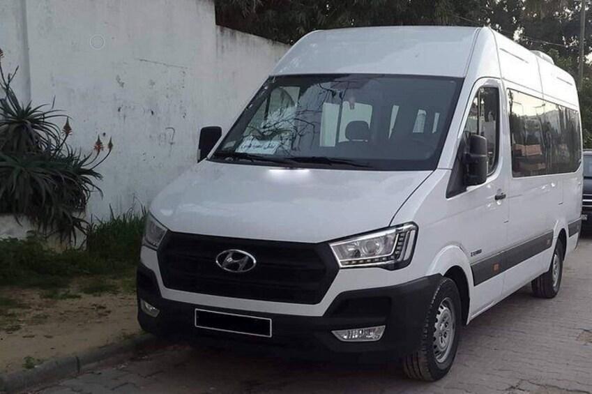 Show item 1 of 2. Monastir private minibus arrival & departure airport transfer to Mrezga