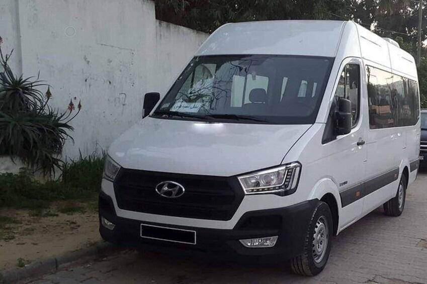 Show item 1 of 2. Monastir private minibus arrival & departure airport transfer to Hammamet Sud