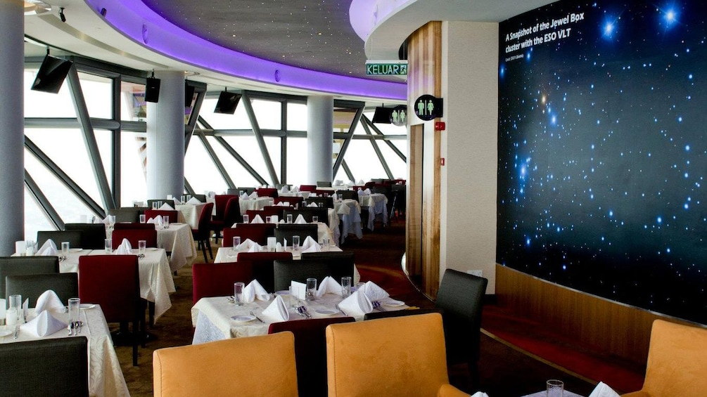 Show item 4 of 4. Dining area with space background in Kuala Lumpur