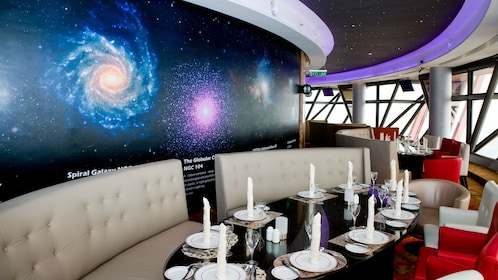 Dining area with space background in Kuala Lumpur