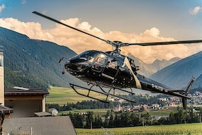 Helicopter tour over the Pragser Wildsee