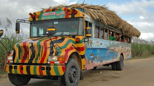 Painted bus in Punta Cana