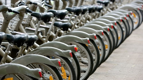 Row of parked bikes in Pars