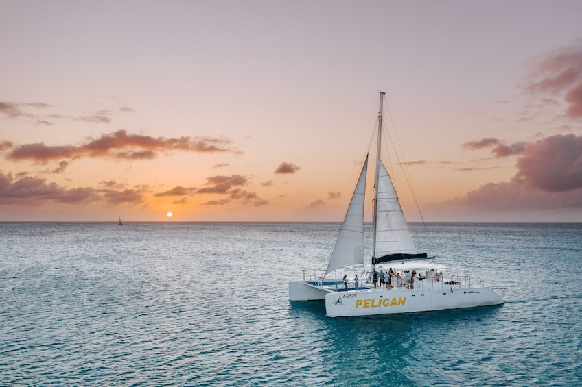 Show item 4 of 8. Sunset Cruise & Seaside Dinner