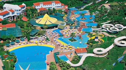 Aerial view of Aqualand Waterpark in Marmaris
