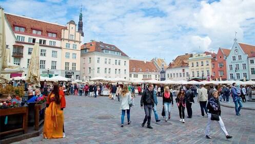 Town square in Helsinki, Finland