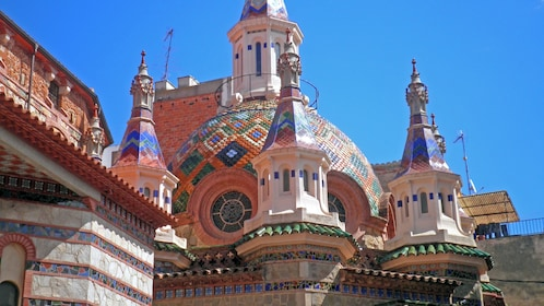 colorful ornamented worship building in Barcelona