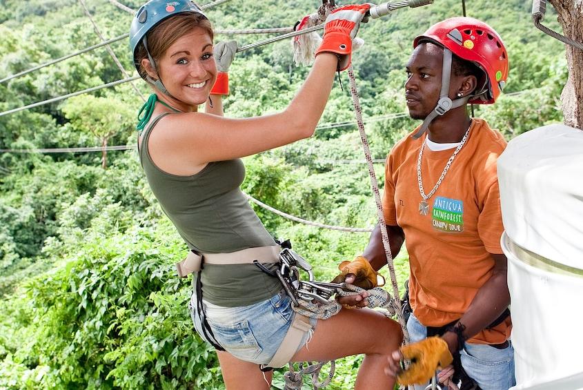 Show item 2 of 8. Antigua Rainforest Canopy Adventure Tour