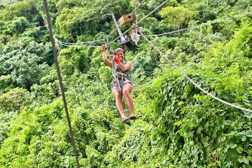 Show item 8 of 8. Antigua Rainforest Canopy Adventure Tour