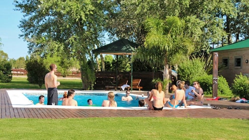 People in a pool in Argentina