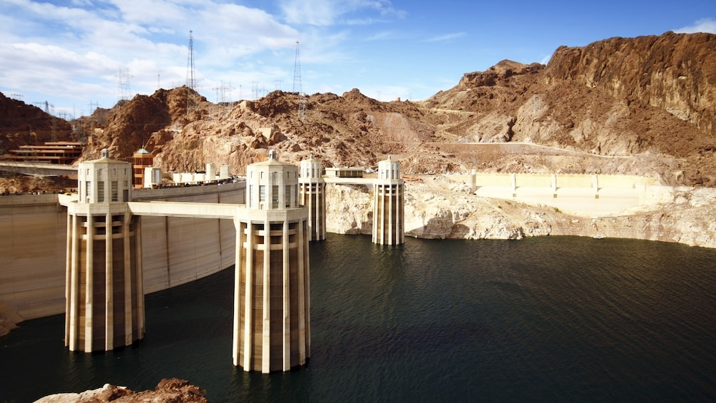 Show item 1 of 7. Lake Mead with Hoover Dam
