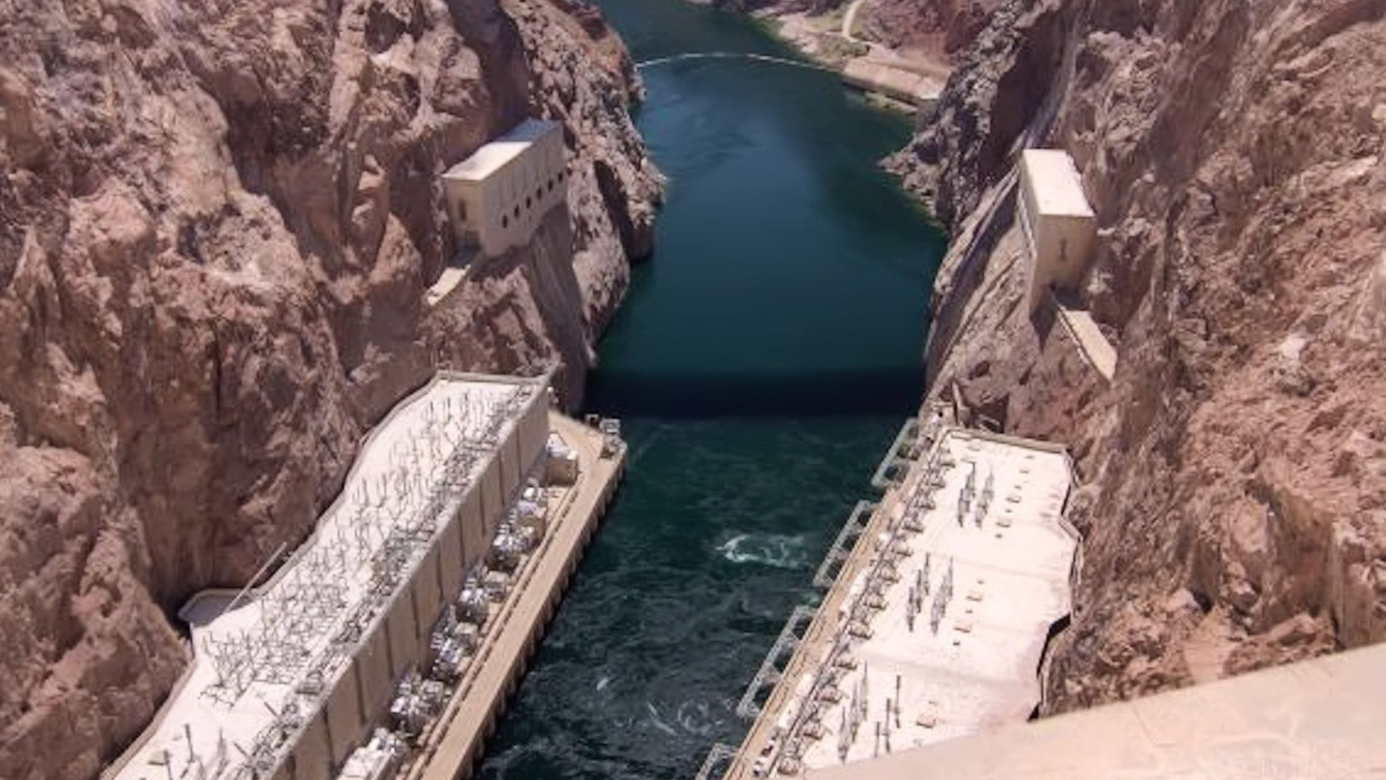 Colorado River as seen from top of Hoover Dam