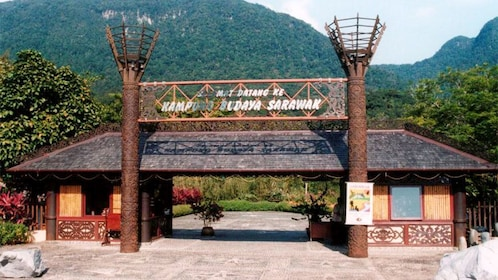 Entrance to the Sarawak Cultural Village tour in Malaysia