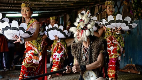 Cultural performance at the Sarawak Cultural Village tour in Malaysia