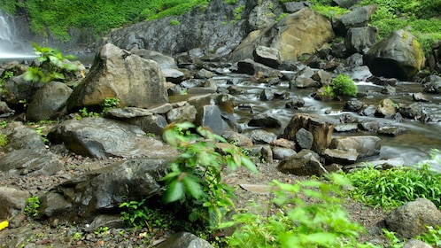 River and rock view on the Mount Gading National Park Tour in Malaysia