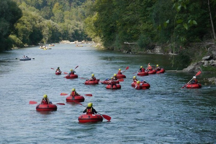 Tubing on the Isar