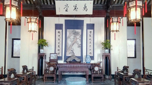 inside a traditional living room in Shanghai