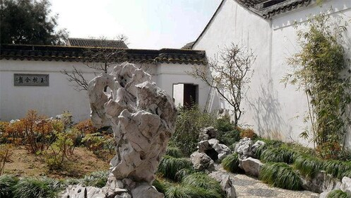 stone art in the traditional Chinese garden in Shanghai