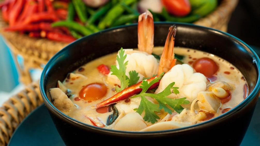 bowl of soup in bangkok