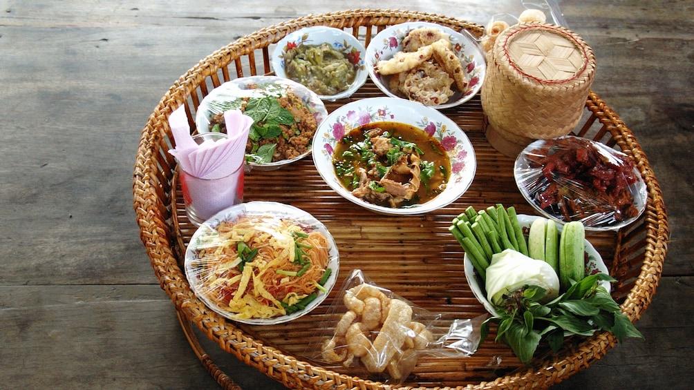 tray of food in bangkok