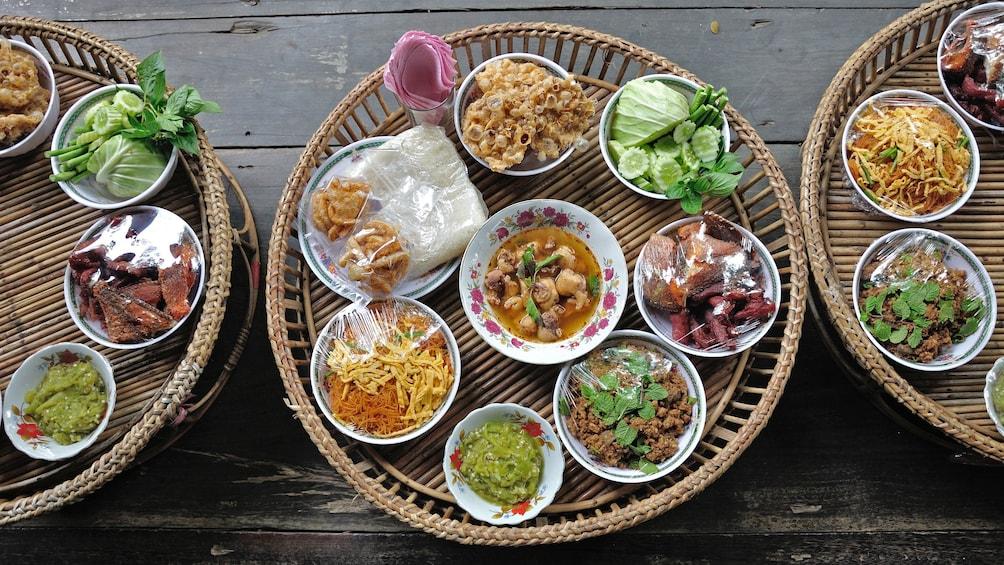 Trays of food in Bangkok