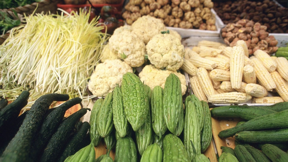Show item 2 of 4. fresh produce at the market in Shanghai