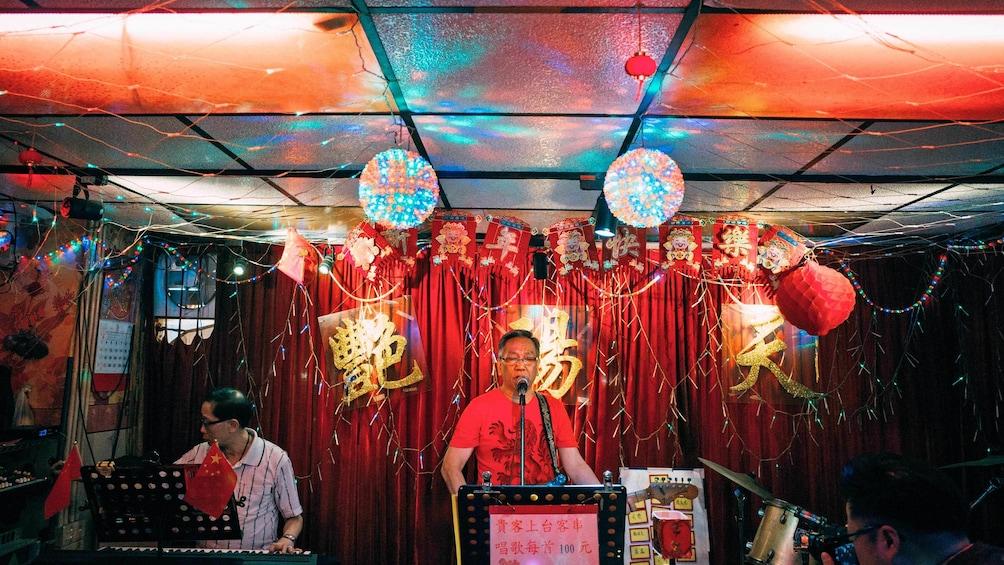 Musicians at the night in Kowloon Hong Kong