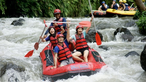 White water rafters in Bali