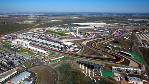 Overhead view of Circuit of the Americas