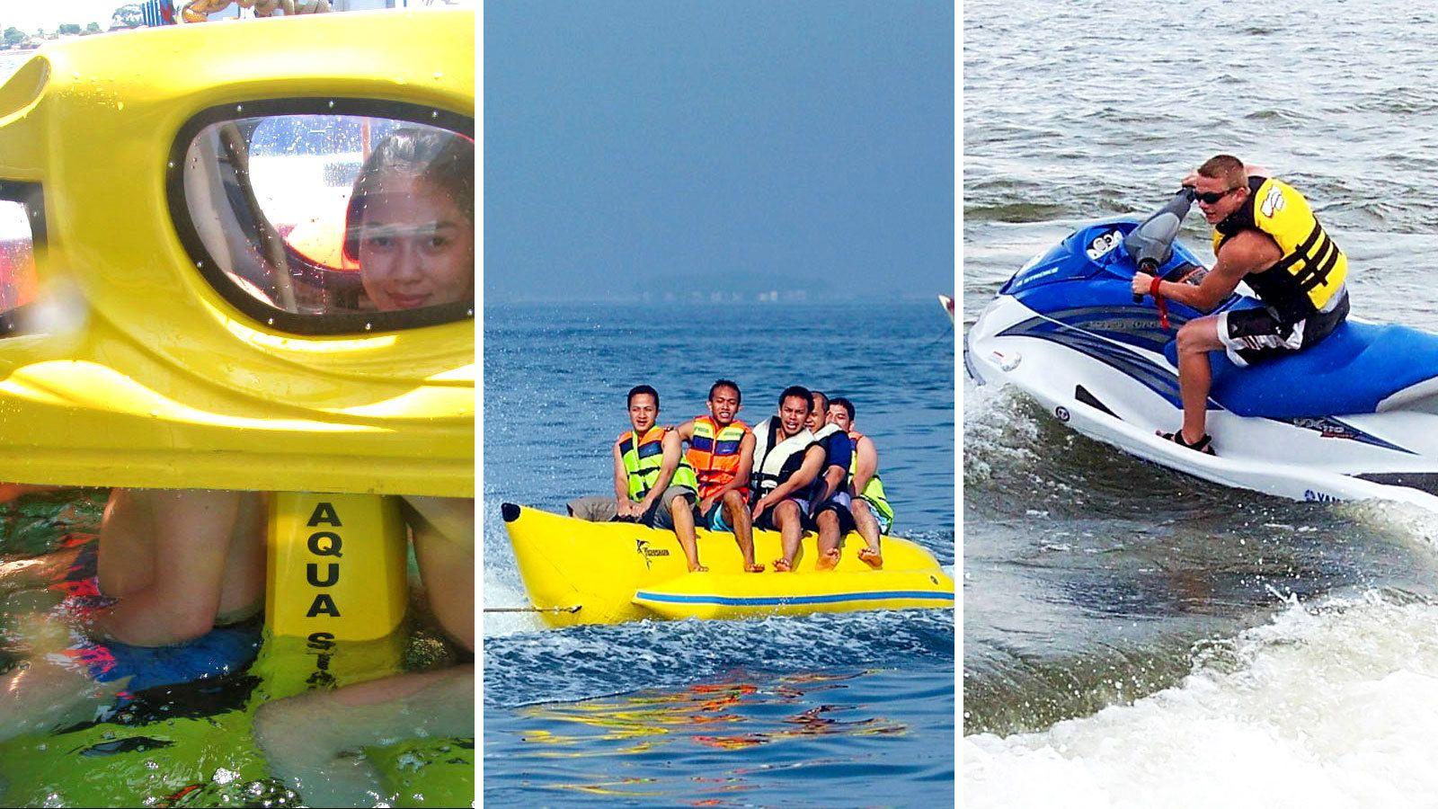 Underwater Tandem Scooter, Banana Boat & Jet Ski Ride
