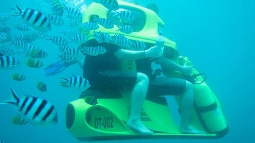 Underwater scooter in Bali
