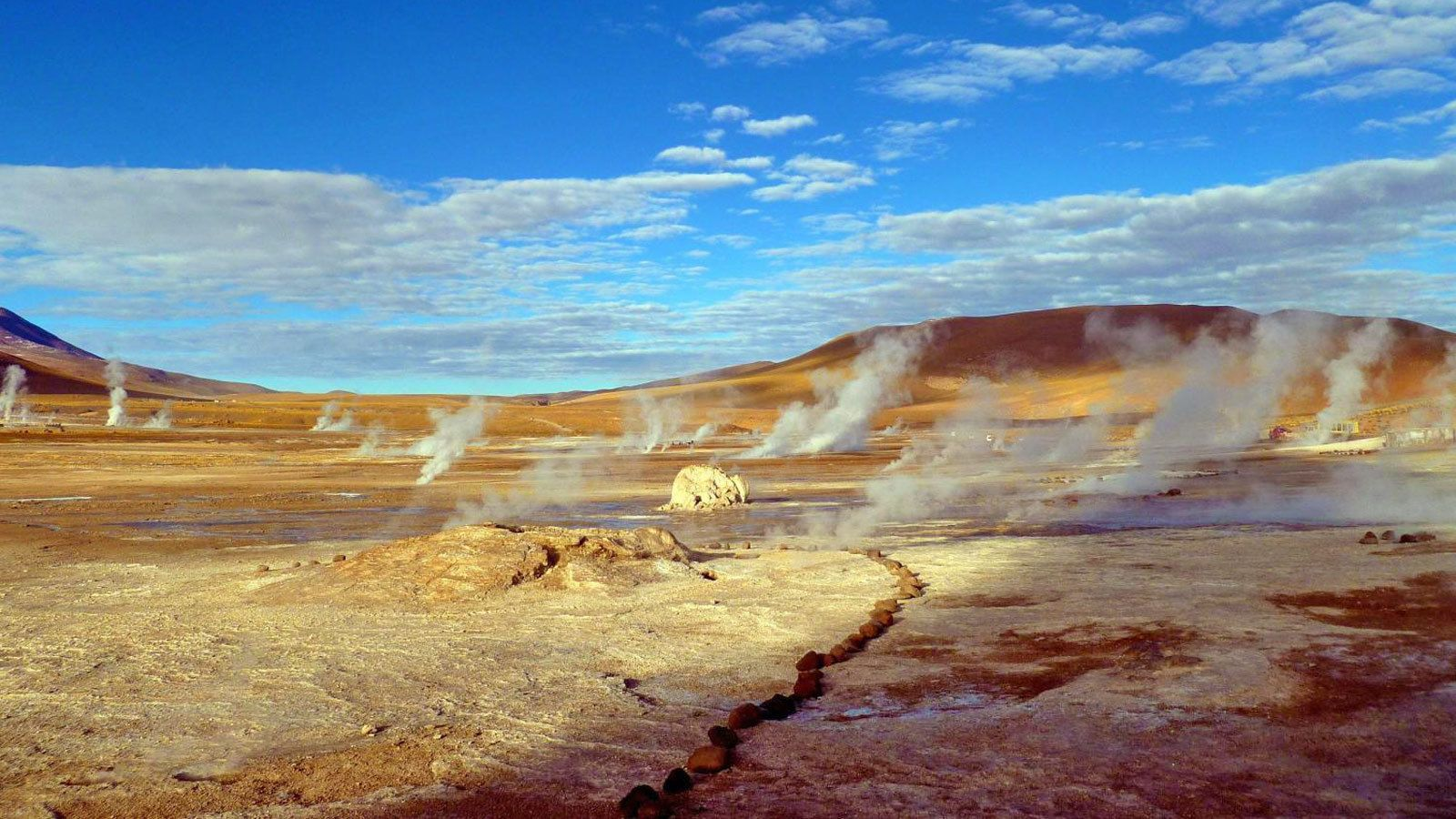Field of geysers in Chile