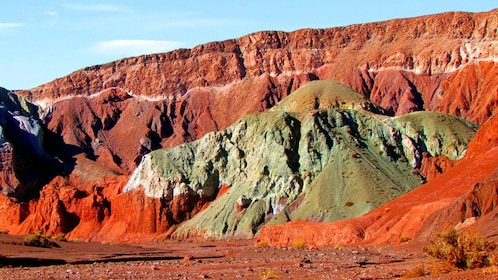 Colorful rocks and cliffs of Rainbow Valley in Chile