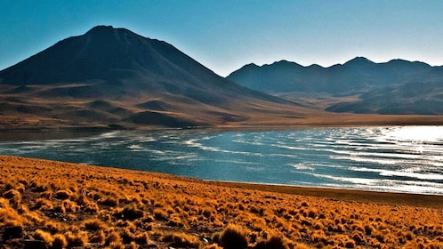 Lagoon with mountains in the background in Chile