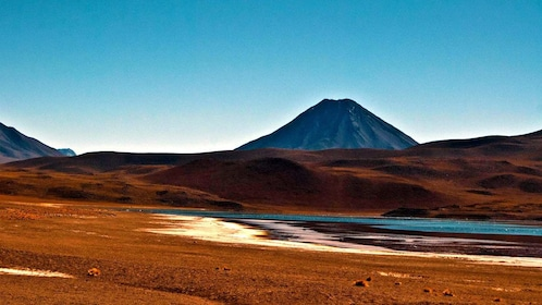 Lagoon with mountain in the distance in Chile