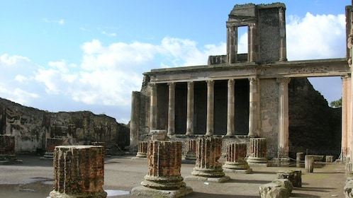 Ruins of a temple in Pompeii