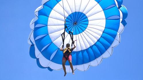 Person parachuting in Bali