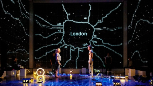 Scene from the Curious Incident of the Dog at Night in London