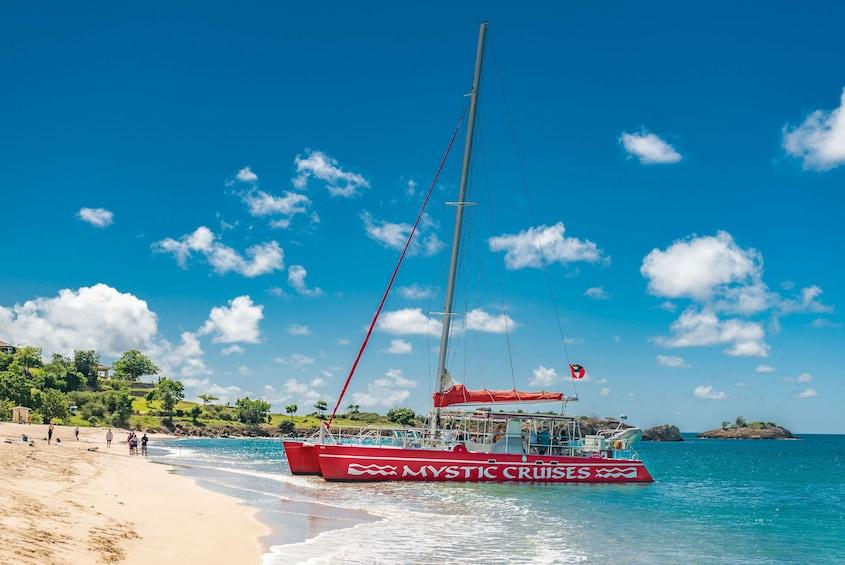 Show item 2 of 6. Best-of-Antigua Catamaran, Sightseeing and Snorkel Cruise