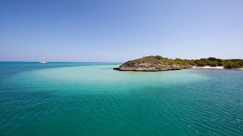 A sandbar off the coast of Antigua